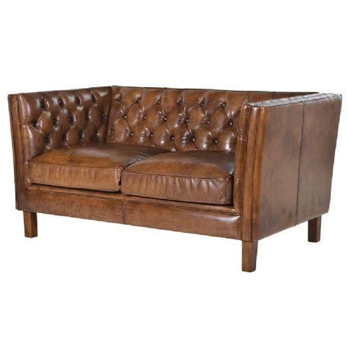 Italian Leather 2 Seater Settee